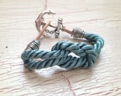Nautical bracelet--A Nautical Notion III--Knot and anchor bracelet