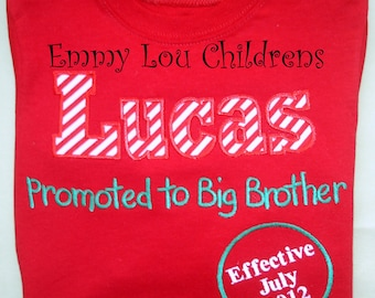 Baby Announcement Shirt - Perfect for Brother or Sister