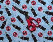 3 Yards Coca-Cola Coke Print Fabric