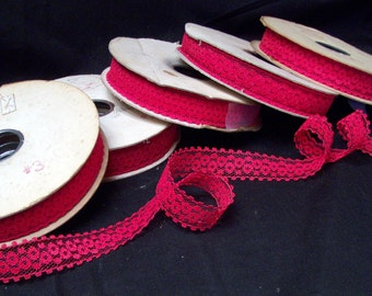 Patt Brand Lace - 5 Spools Available of 1 inch Red Color