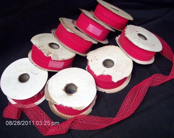 Patt Brand Lace - 8 Spools Available of 2 inch Red Color