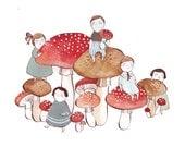 Mushroom afternoon 8.5x11