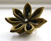 Custome Colour Hair Flower, Kanzashi Flower Hair Clip, Flower Brooch Pin, Flower Corsage  - Women's Accessory