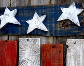 Rustic Reclaimed Wood Americana Flag Fourth of July Memorial Day President's Day Decor