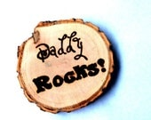 Personalized Father's Day Rustic Magnets Eco Friendly Gift Idea