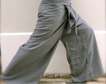 Thai Fisherman Pants- Kona Cotton- Pewter