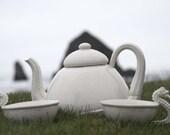 Sea Urchin Teapot and Seahorse Teacup SET (3 pcs)