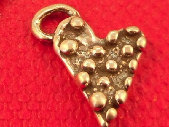 Sterling Silver Artisan Heart with bumps dots (PS2-24)