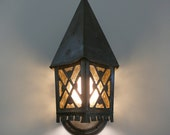 1920s Arts and Crafts Gothic Porch Light Sconce by the Lincoln Lighting Company