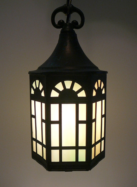 1940s Arts And Crafts Cottage Style Hanging Light By