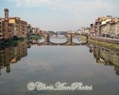 CUSTOM LISTING for Jackie (fernlover): Florence, Italy Photograph - Ponte Santa Trinita 5x7 Archival Print