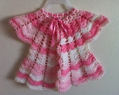 Girl baby vest, crochet girl baby vest, baby vest, baby shower, usa seller
