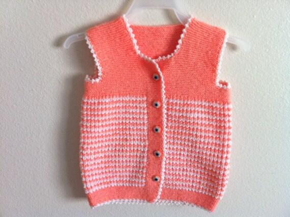 Hand Knit Baby Vest, 12 Months Baby Vest, Usa Seller,
