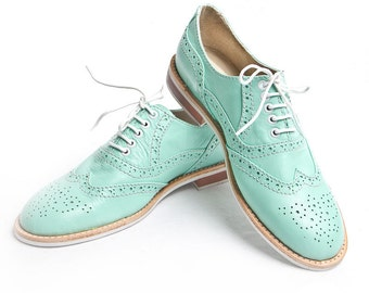 Mint Oxford brogue shoes - FREE WORLDWIDE SHIPPING