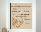 If You're Kind (Conan O'Brien Quote), Inspirational Art Quote Print, 8 x 10