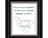 Forever Brothers, Playroom Wall Art,  Children Decor, Nursery Wall Art, Childrens Room Decor, 8x10