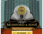 Mumford & Sons 18 x 24  Limited Edition  silkscreened print