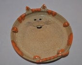 Small Cat Plate or Wall Hanging