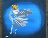 King Blue Tit - 8x10 Stencil Painting Original