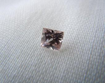 Light Pink Genuine Montana Sapphire Princess Cut .78 carat