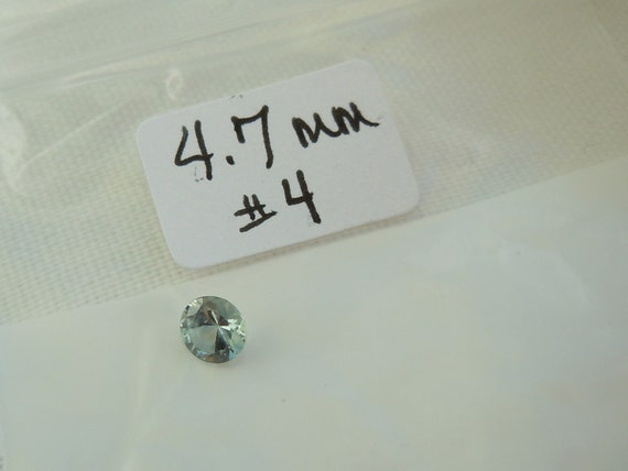 Fancy Montana Sapphire 4.7mm .46 carat  Round Cut Loose Gemstone for Making Jewelry