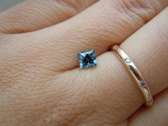 Genuine Montana Sapphire Princess cut .67 carat Blue