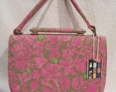 Vintage 1950s Stylecraft Miami Handbag Purse Fabulous Pink Print