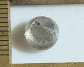 Natural Silvery Rose Cut round Diamond 2.07ct 7mm large lovely gem