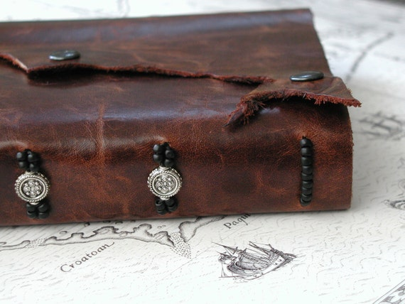 Magical Coins Handbound Leather Journal