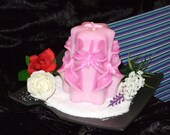 Pink extravaganza - OOAK Sculpted Art Candle - Chanel no.5 - Glows from inside out - FREE SHIPPING for Australia Metro