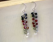 Cascading Swarovski Crystal Cluster Earrings