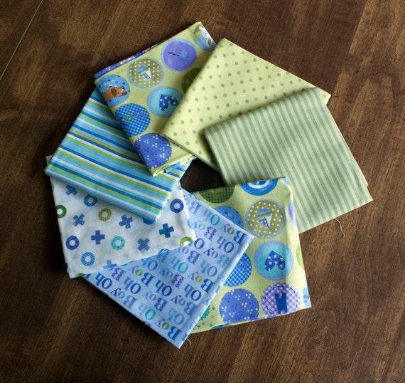 baby boy fat quarter bundle // baby boy crib quilt fabric bundle
