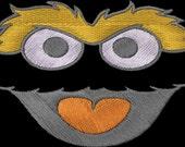 Oscar's Face  Embroidery Design