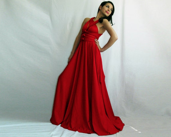 Reserved listing for Elizabeth Bohr Convertible Infinity Wrap Chameleon Maxi Dress Red and a matching top