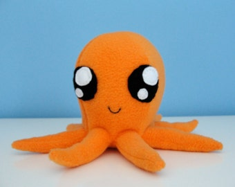 Orange Octopus Plushie