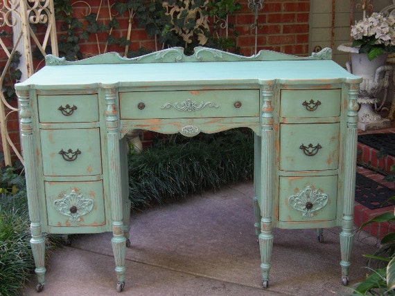 custom shabby chic antique desk not new is old by