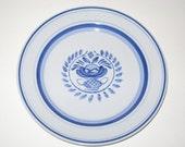 "Arabia Finland Blue Rose 7.75"" Salad Dessert Plate Mid Century Modern"