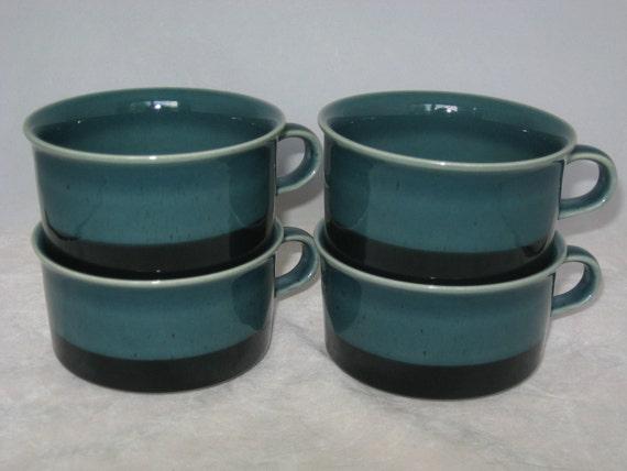 Arabia of Finland Set of 4 Meri Coffee Mugs or Cups Ulla Procope Mid-Century