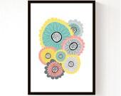 Spring Flowers - A3 Print