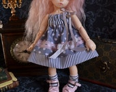 Cute little grey dress for BJD YoSD and Ltf size