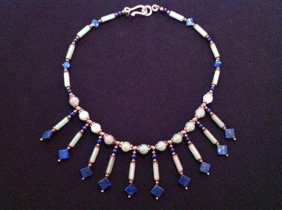 Lapis Lazuli and Aventurine Choker Necklace