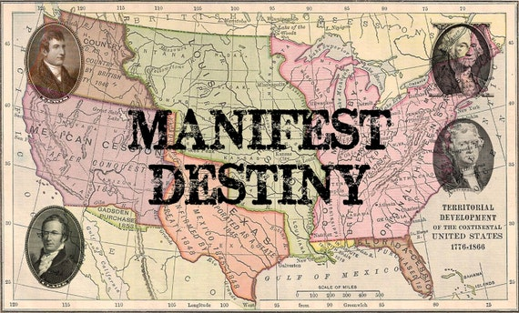 the manifest destiny history in the united states Name: university: course: tutor: date: american manifest destiny and slavery  expansion introduction manifest destiny was an idea that heavily shape.