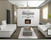 "Our Greatest blessings  23""w x 14.9""h (GR001)- Vinyl Decal for walls, tiles, doors, windows, mirrors, crafts, and more"