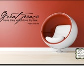 "Great Peace 23""w x 7.5""h (C005)- Vinyl Decal for walls, tiles, doors, windows, mirrors, crafts, and more"