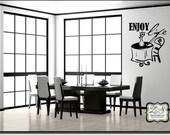 "Enjoy Life 23""w x 26.7""h (L047)- Vinyl Wall Art / vinyl decal: walls, tiles, doors, windows, mirrors, crafts, etc."