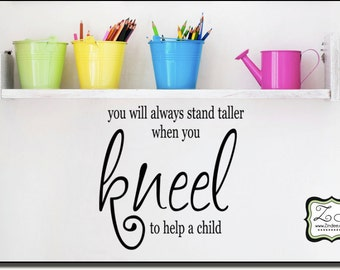 """You will always stand taller 23.2""""w x 23""""h- Vinyl Wall Art- Vinyl Wall Decal- Wall Sticker- Vinyl Sticker- Vinyl Wall sticker CT038"""