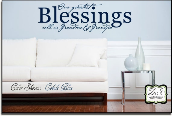 """Our greatest blessings  23""""w x 7.4""""h (GR003)- Vinyl Decal for walls, tiles, doors, windows, mirrors, crafts, and more"""
