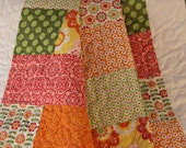 ON SALE NOW - Baby Quilt Made With Riley Blake Fabrics - flowers, polka dots, stripes
