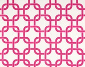 Table Runner - White-Hot Pink Chain Table Runners - Chain Table Runners For Weddings or Home Decor - Select A Size