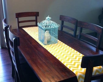 Table Runner - Yellow Table Runners Yellow Chevron Table Runners For Weddings or Home Decor - Select A Size